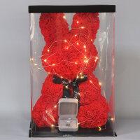 永生花礼盒玫瑰花兔子玫瑰小熊许愿兔情人节生日礼物送爱人女朋友