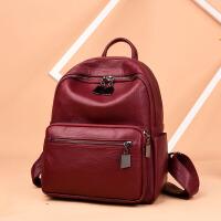 新潮女士双肩包日韩风格百搭书包背包时尚简约大容量软皮包包
