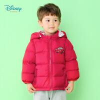 迪士尼Disney童装 男童三层夹棉外套儿童可脱卸带帽棉服小汽车织章上衣194S1350