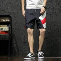 夏季日系休闲短裤男士大码韩版宽松五分裤潮流青年速干沙滩裤中裤