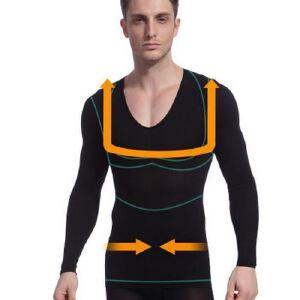 NY104 功能型塑身内衣男士内衣保暖内衣锗钛银发热内衣