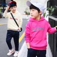 男童卫衣春装新款春秋中大童儿童长袖连帽上衣运动潮