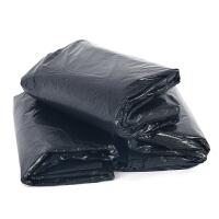 大垃圾袋批发 黑色平口大码垃圾袋 物业加厚超大号垃圾袋120x140 80X90普厚款 50个 黑 加厚