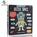 英文原版 Little Explorers Outer Space 小探险家流浪地球 外太空纸板翻翻书 儿童科普读物