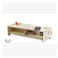 大政木质液晶电视电脑显示器架键盘增高置物多层格子收纳支托架A090