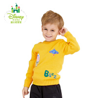 【2件3折到手价:61.5】迪士尼Disney童装男童毛衣纯棉针织套头衫新款宝宝秋装长袖外出服173S935