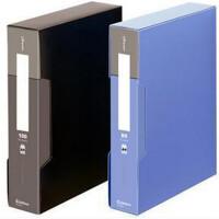 齐心PF80AK-1 80页/100页资料册 报告夹A4 收纳册多页袋颜色随机一个
