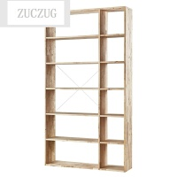 ZUCZUG现代简约实木书架架子货架酒柜展示柜创意书橱书床头柜置物架组合