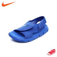 耐克nike童鞋2018夏季新款男女童休闲凉鞋中童沙滩鞋(5-10岁可选) 386518 414