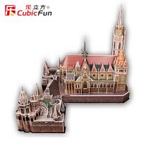 乐立方立体拼图马蒂亚斯教堂渔人堡 匈牙利教堂模型 纸模型MC128