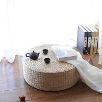 坐垫蒲草编加厚日式榻榻米坐垫跪拜佛飘窗垫子瑜伽打坐禅修垫