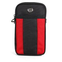 7寸大屏手机包男腰包 8寸8.4寸平板包手机袋子牛津布斜跨小包包 红色-挂钩+单肩带+插扣腰带 6.5至7寸