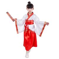 六一儿童节演出服古装汉服男女童国学服装表演服书童三字经弟子规 红色女童 120cm