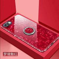 苹果6手机壳4.7寸钢化膜iphone6s玻璃a1586防摔PINGG镶钻车载指环