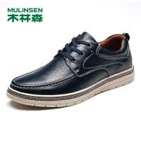 木林森男士休闲鞋秋季新款户外皮鞋英伦时尚潮鞋板鞋男士鞋子770533201