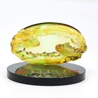 琉璃名片座笔插摆件商务礼品创意实用企业送客户会议纪念品礼物