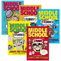 英文原版 I Funny 套装5本 Middle School 撞墙日记 媲美小屁孩日记 儿童章节小说书 中小学英语阅