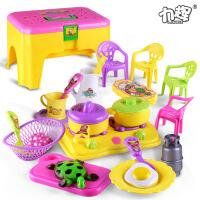 新款儿童仿真厨房做饭餐具套装创意角色扮演可收纳过家家玩具