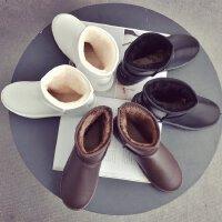 2017冬季新款加厚保暖棉鞋平底平跟圆头雪地靴女短靴休闲百搭女鞋18MH