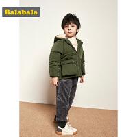 【3件3折价:107.7】巴拉巴拉儿童棉衣童装男童秋冬新款宝宝加厚保暖棉袄外套上衣