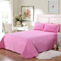 欧式夹棉绗缝被床盖三件套纯色床单床铺盖纯棉衍缝被床盖单件