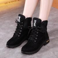秋冬季马丁靴英伦雪地靴chic短靴加绒棉鞋ins网红靴子韩版女鞋子