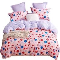 四件套纯棉全棉卡通被子宿舍三件套床单被套网红床上用品