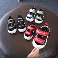 男宝宝凉鞋软底包头婴儿学步鞋女孩防水沙滩鞋夏季新款童鞋
