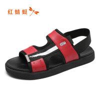 【红蜻蜓抢购,抢完为止】红蜻蜓凉鞋男年夏季新款沙滩鞋时尚潮流韩版学生凉鞋潮鞋