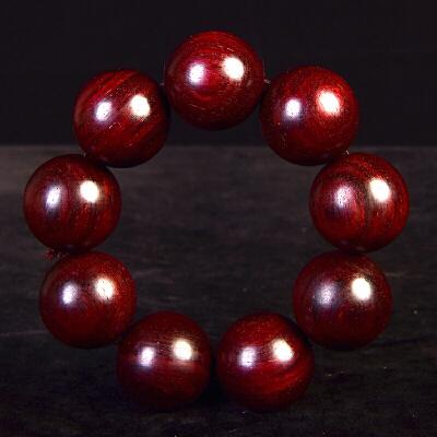 【带星】小叶紫檀手串30mm 144.5克   C-496