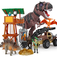 儿童仿真动物模型套装恐龙玩具男孩电动遥控霸王龙会走路下蛋
