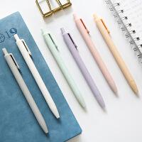 按动中性笔黑色0.5mm速干学生用写字水笔学习办公签字笔