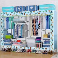 衣柜简易布衣柜钢管加粗加固加厚布艺简约现代经济型组装宿舍衣橱 单门