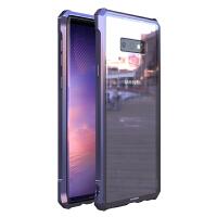三星note9手机壳金属边框galaxy note8全包保护套note9保护壳钢化玻璃后盖N9600 note9君子剑