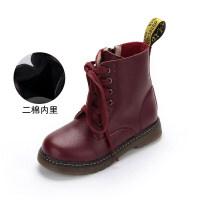 【活动价:117】女童马丁靴2019年新款单靴英伦风秋冬季真皮短靴宝宝小儿童靴子女