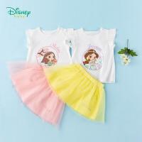 【3件3折到手价:70.8】迪士尼Disney童装 女童裙装花木兰印花短袖上衣裙子两件套2020年夏季新品儿童衣服