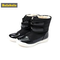 巴拉巴拉童鞋儿童靴子女2018新款冬季鞋女童加绒雪地靴鞋子潮学生