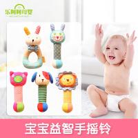 婴儿手摇纯棉铃布 婴幼儿毛绒玩具婴儿玩具宝宝摇铃用品早教益智