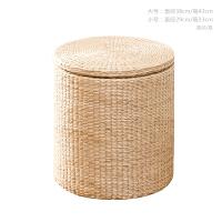 藤草编收纳凳子换鞋凳储物凳子可坐人有盖整理收纳箱沙发凳搁脚凳