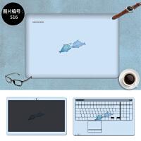 华硕E402s 笔记本贴膜E502m R417保护膜贴纸14.6寸免裁剪外壳膜 SC-516 三面+键盘贴