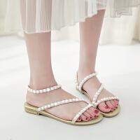 夏季时尚公主鞋小女孩学生女童凉鞋真皮儿童鞋大童潮