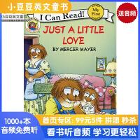 英文绘本 原版进口 Little Critter: Just a Little Love 小怪物 [4-8岁]