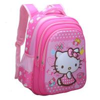 儿童书包小学生女童1-3-5年级凯蒂猫书包 幼儿园3-7-12周岁小书包 玫红大号 适合2-5年级