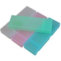 小灵精PP塑料无印考试笔盒 学生男女透明磨砂文具盒 图案*