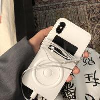 王柳雯同款播放器苹果X手机壳新款7P/8plus情侣潮牌iphoneX软壳女 6p/6sp 白色