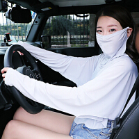 2018新款夏季防晒披肩口罩一体女骑行开车长袖遮阳防紫外线护颈冰丝面罩纱