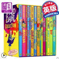 Roald Dahl 罗尔德・达尔15册 儿童英语章节书小说 女巫好心眼巨人了不起的狐狸爸爸 查理和巧克力工厂魔法手指