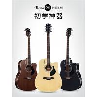 学者入门吉它学生男女乐器单板吉他民谣吉他40寸41寸木吉他初