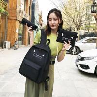 中学生书包女双肩包2019新款韩版原宿高中简约大容量背包
