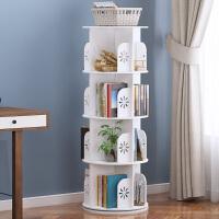 儿童书架置物架落地360度旋转学生书柜桌上简易收纳架经济型家用